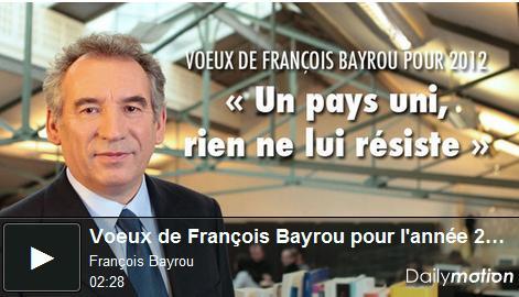 Voeux Bayrou 2012